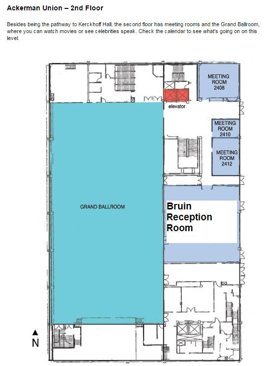 Ackerman 2nd Floor Map